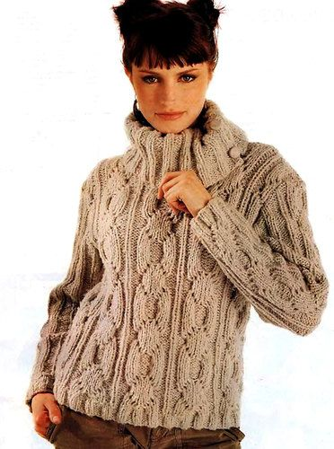 Hand Knit Womens Turtleneck Sweater Boat Neck Hand Knitted Womens