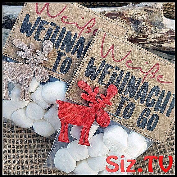 WEINACHTSGESCHENK Wei  e Weihnacht GastgeschenkWei
