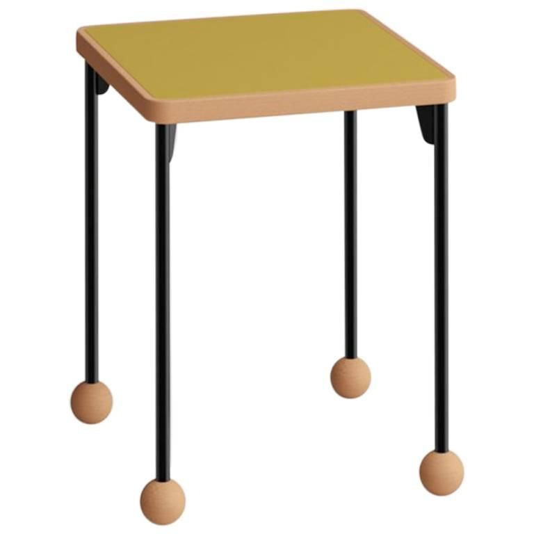 Contemporary Bauhaus Style Stool Or Side Table In Metal