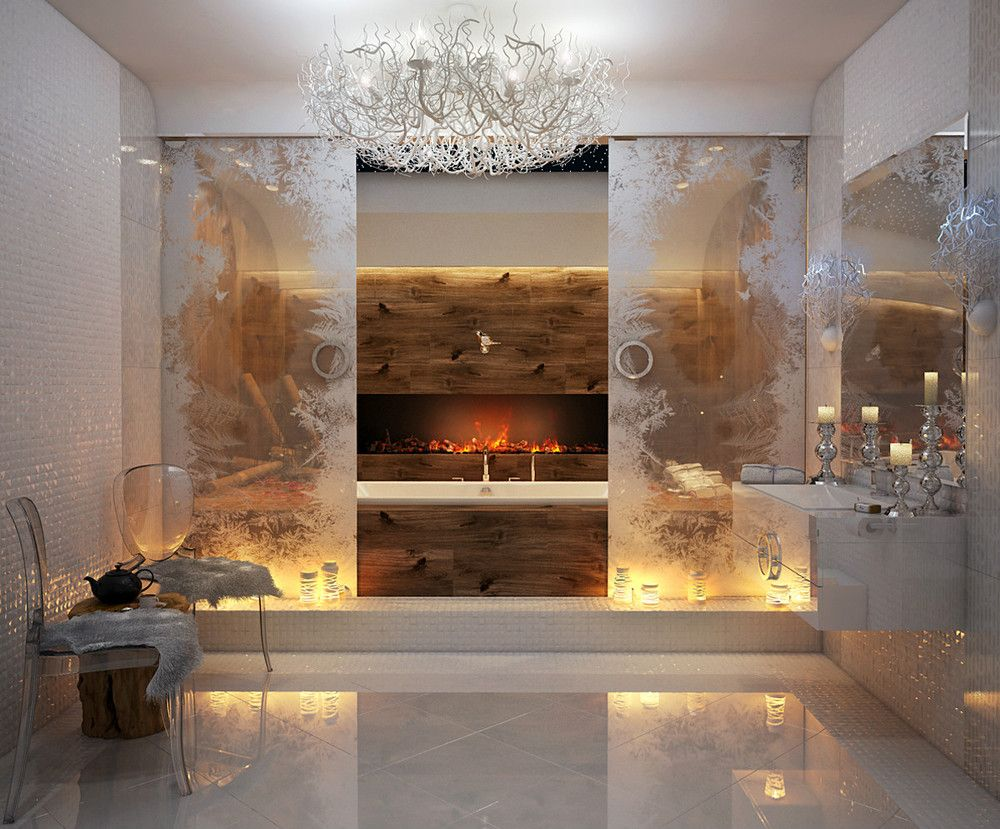 luxurious bathroom design with soft color visit roohomecom