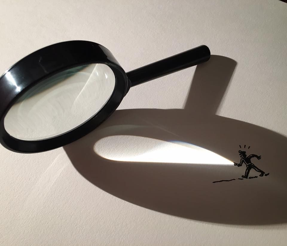 These clever photos combine objects shadows and drawings draw