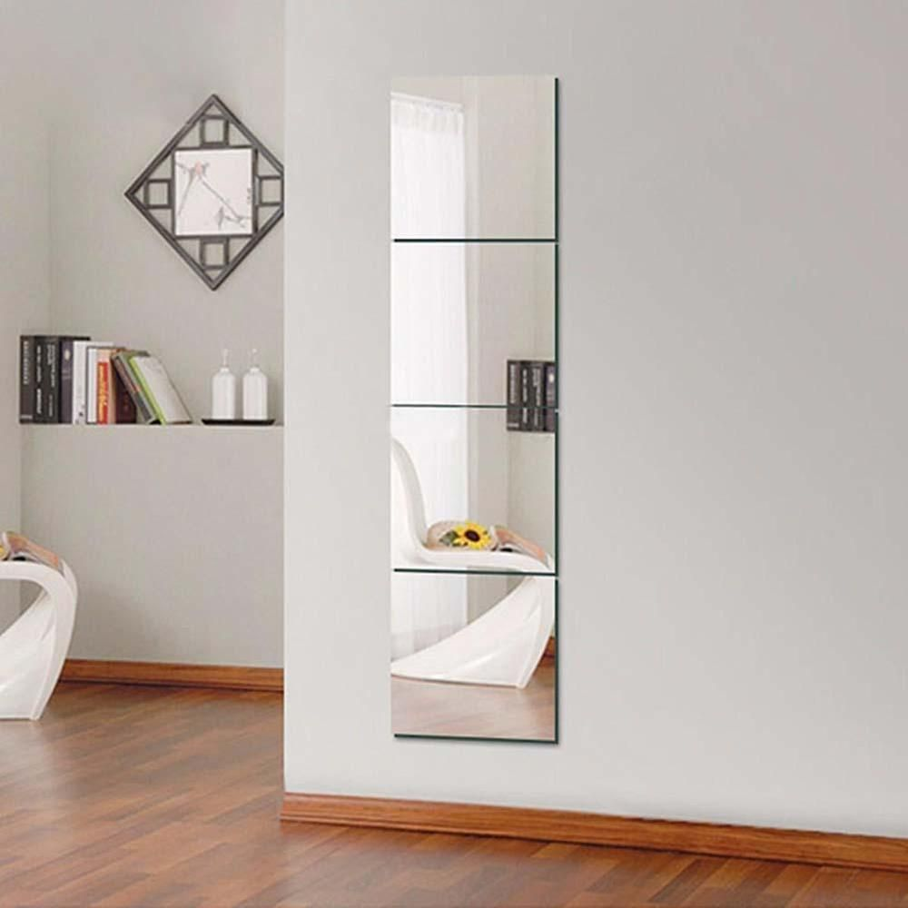 Decorative Mirrors Self Adhesive Tiles Mirror Wall Stickers Decor