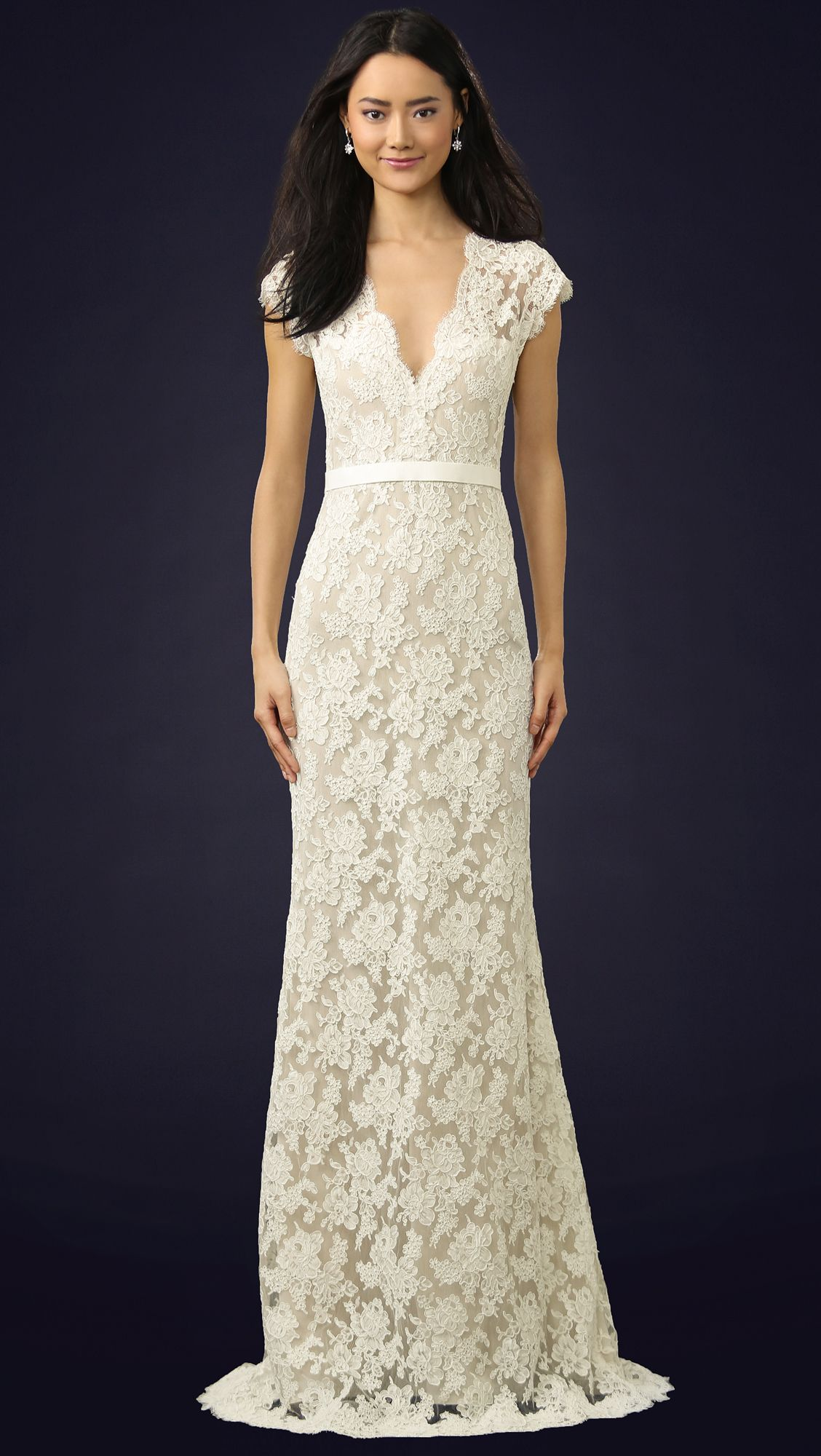Reem Acra I'm Married Lace Gown Designer dresses casual