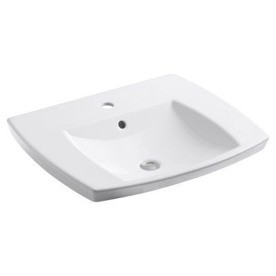 Kohler Kelston Drop In Bathroom Sink With Single Faucet Hole With