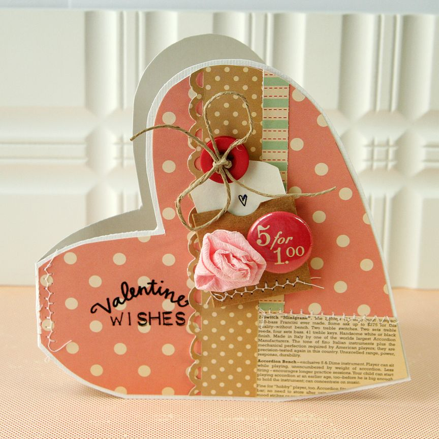 Valentine Wishes Card *NEW October Afternoon*