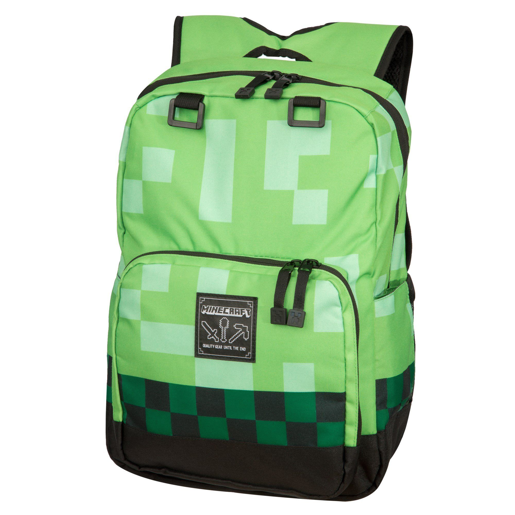Minecraft Creeper Kids Backpack - Green     Find out more about the great  product at the image link. 0d7df47c68f0d