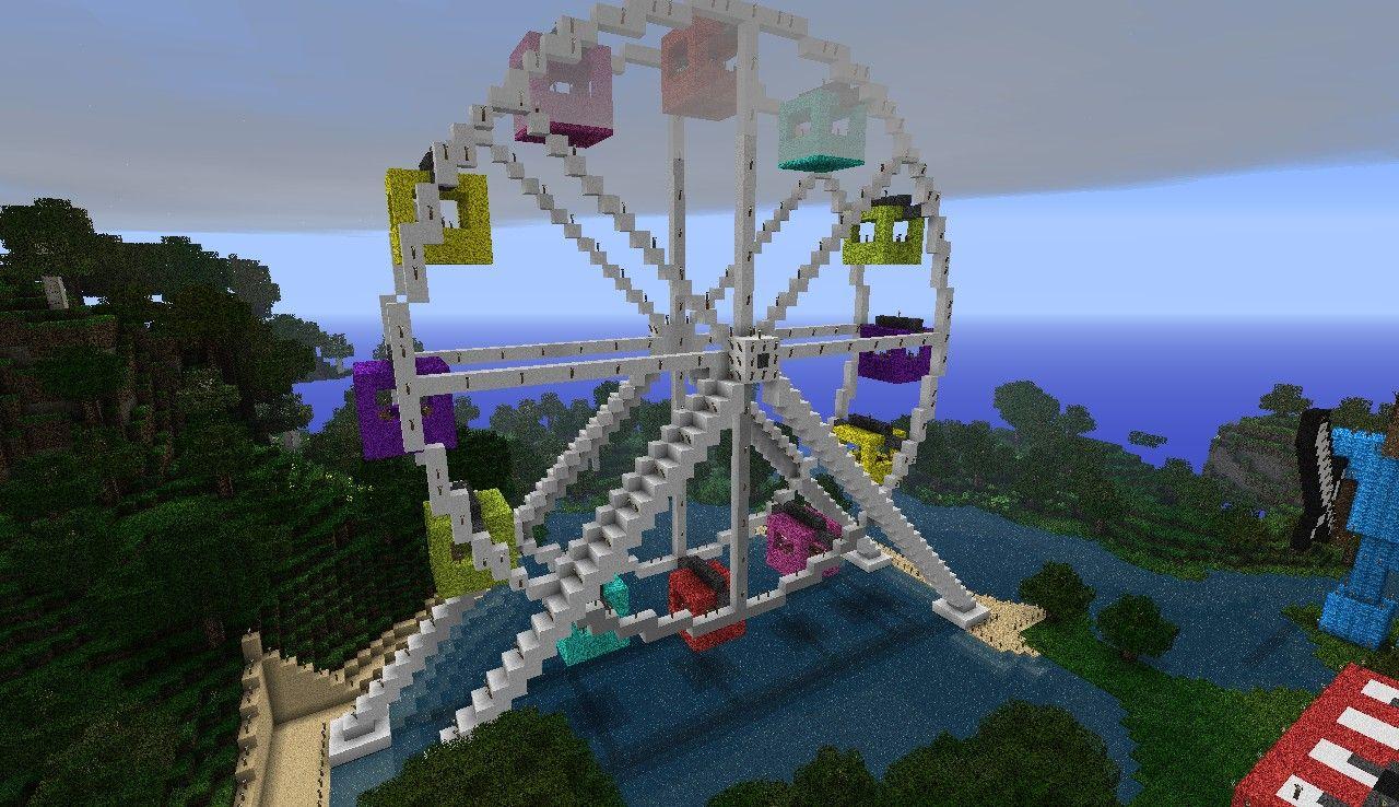 minecraft ferris wheel   Ferris wheel (new schematic) Minecraft Project