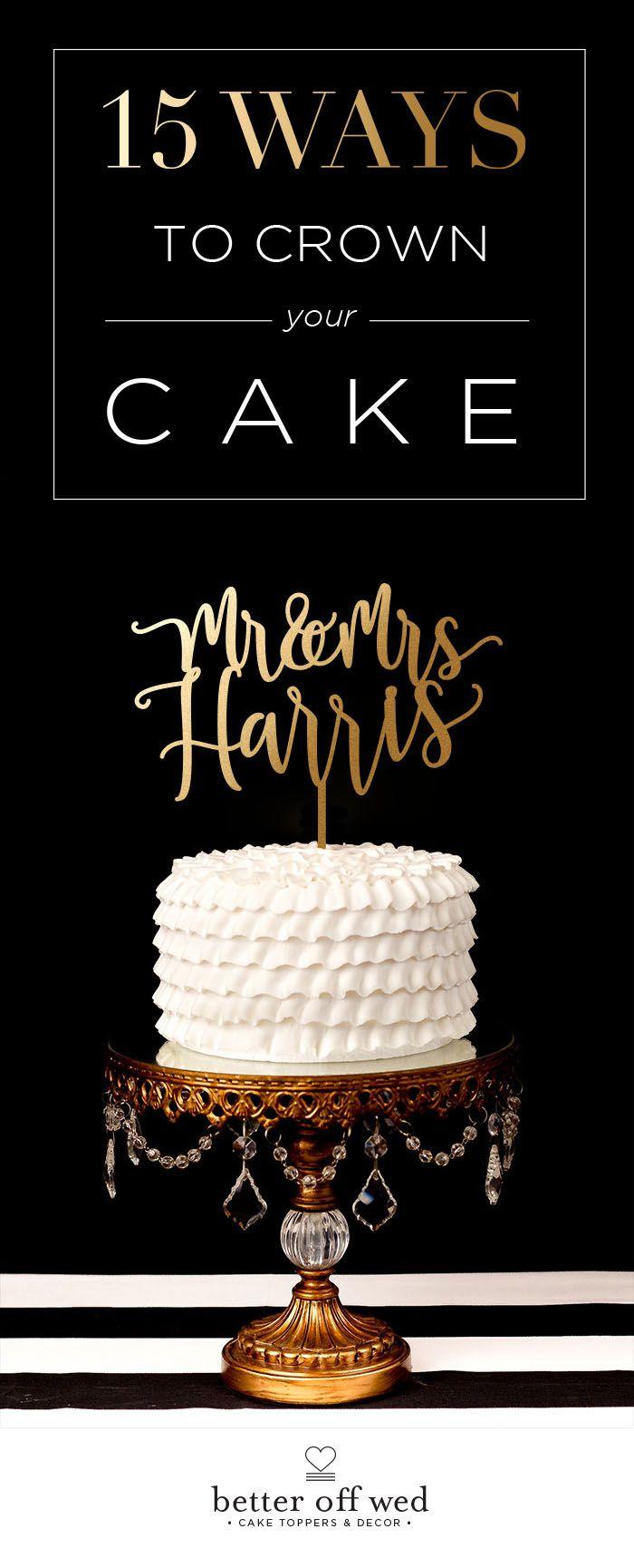 Custom last name wedding cake topper an wedding and wedding cakes