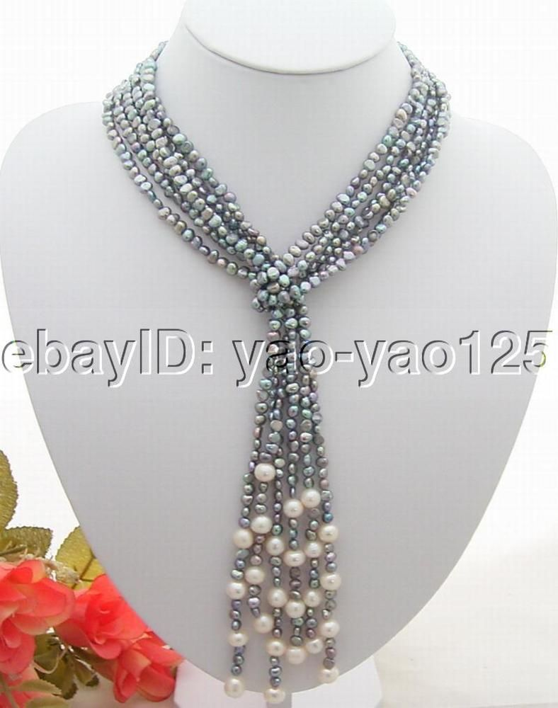 Strds uu gray white pearl necklace diy jewelry pinterest