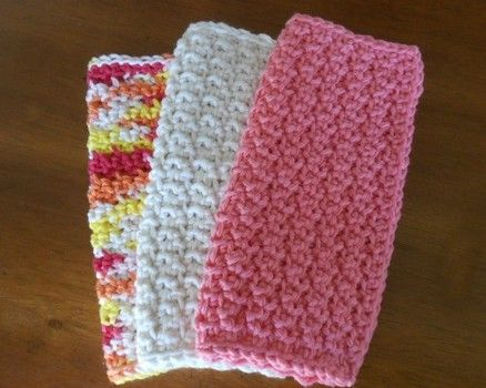 Back and Forth Dishcloth, a super simple free crochet ...