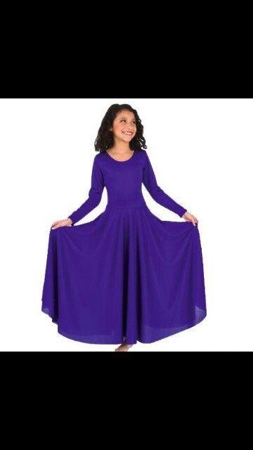 4433c2b75 Purple Girls Praise Dance Dress