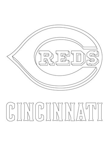 Cincinnati Reds Logo Coloring Page Free Printable Coloring Pages