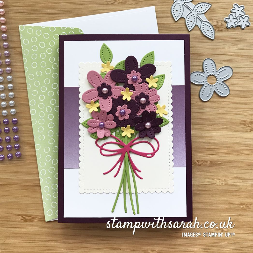Flower Bouquet with Pierced Blooms Dies from Stamp