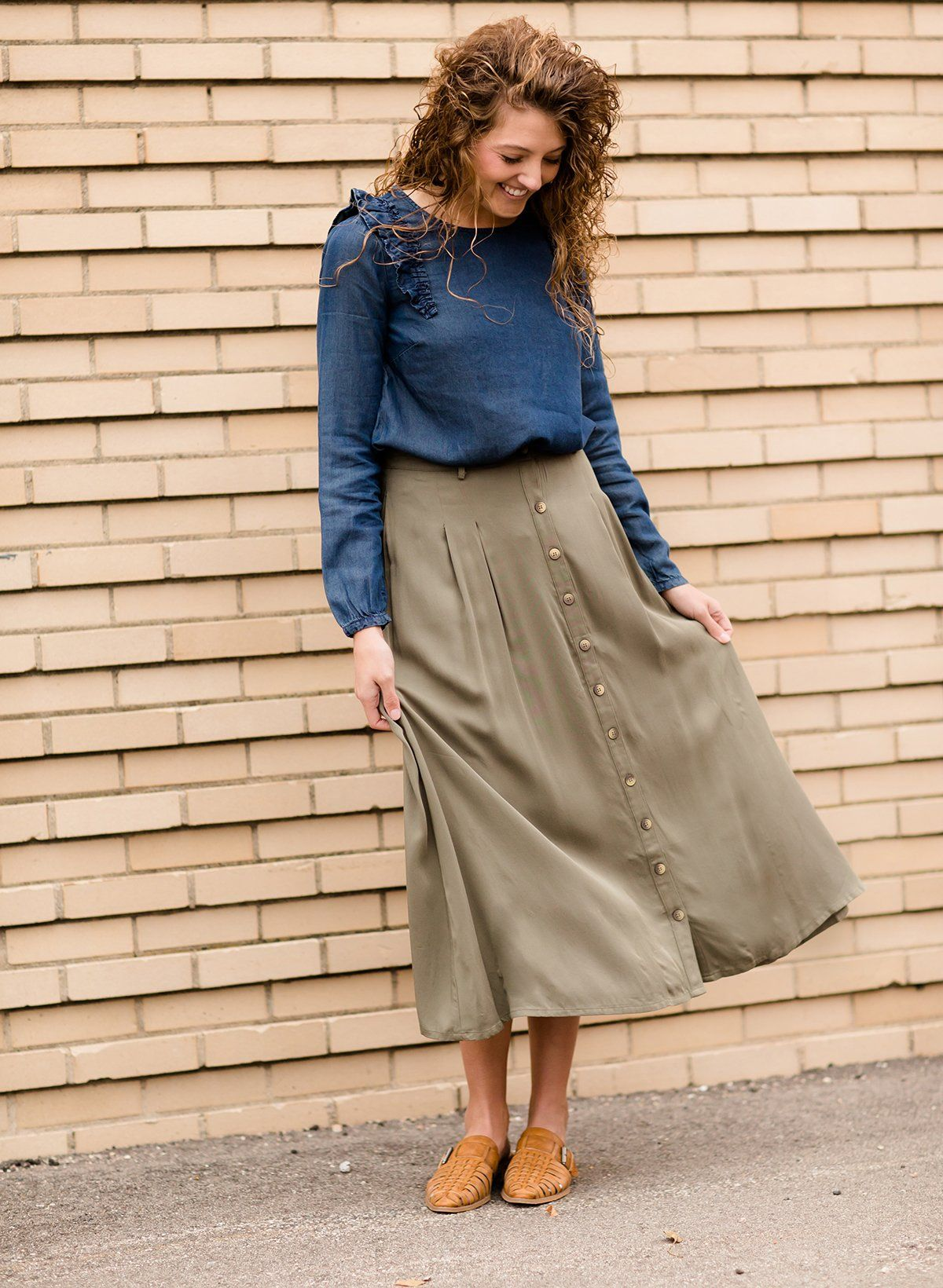 012e72d260cc Modest Women's Button Front Midi Skirt | Inherit Clothing Company – Inherit  ...