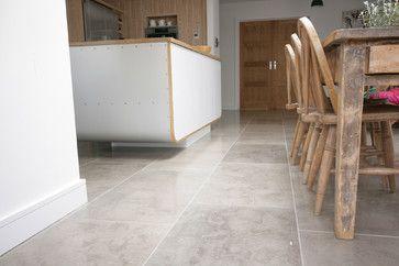 'Pinatubo Grey' Natural Limestone Floor - contemporary - Kitchen - East Midlands - Stones of Croatia
