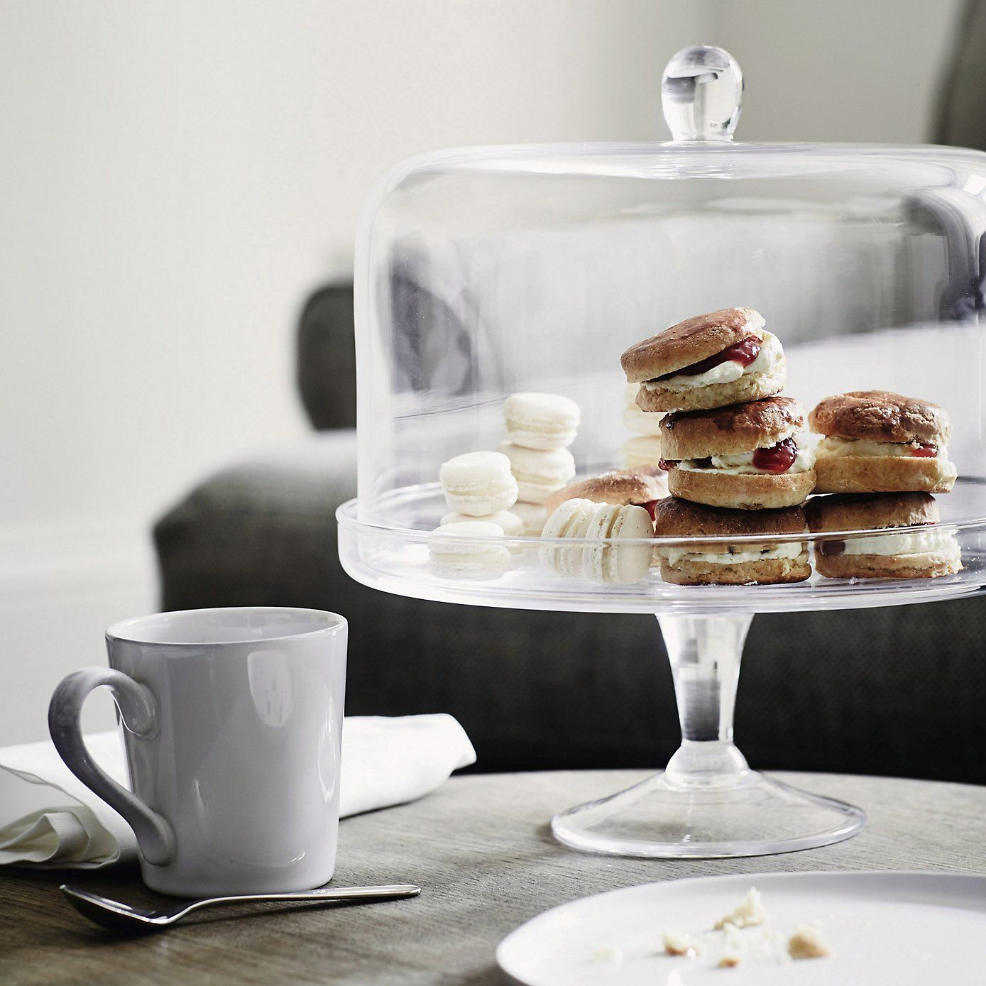 Lidded Glass Cake Stand - The White Company