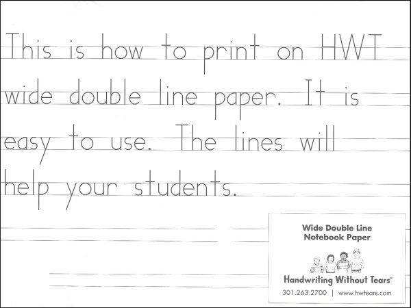 Rainbow Resource Hwt Wide Double Line Notebook Paper