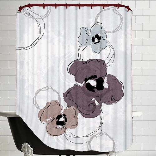 Found It At Wayfair Poppy Petals Wine Shower Curtain Cool