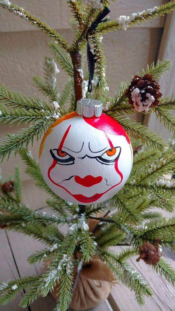 Pennywise Clown OrnamentIT OrnamentScary Clown Holiday Ornaments, Christmas  Presents, Xmas, Black Christmas, - Pennywise Clown Ornament,IT Ornament,Scary Clown Ornament,Horror Fan