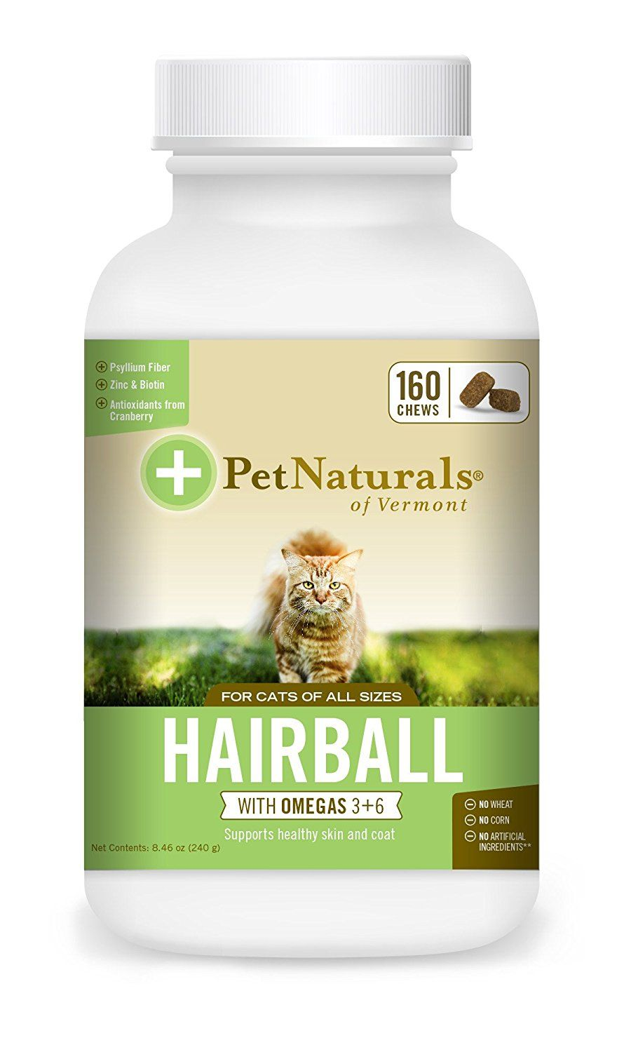 cat Naturals of Vermont Hairball, Daily Digestive, Skin