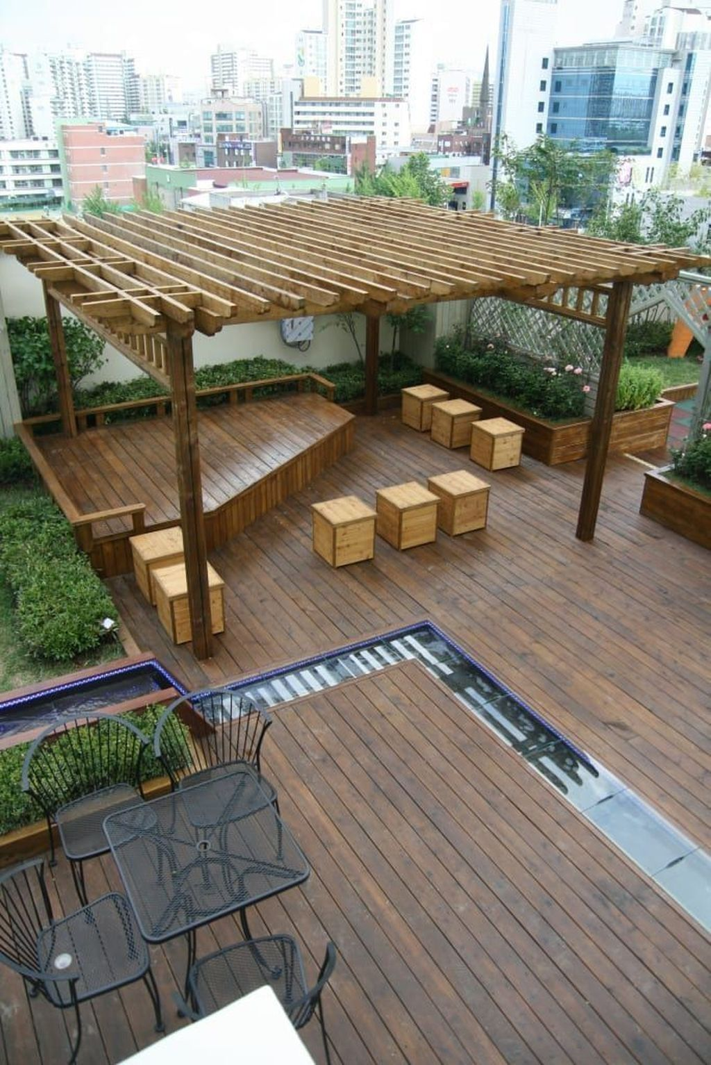 30 Attractive Terrace Design Ideas For Home On A Budget To Have In 2020 Rooftop Garden Urban Rooftop Terrace Design Rooftop Design