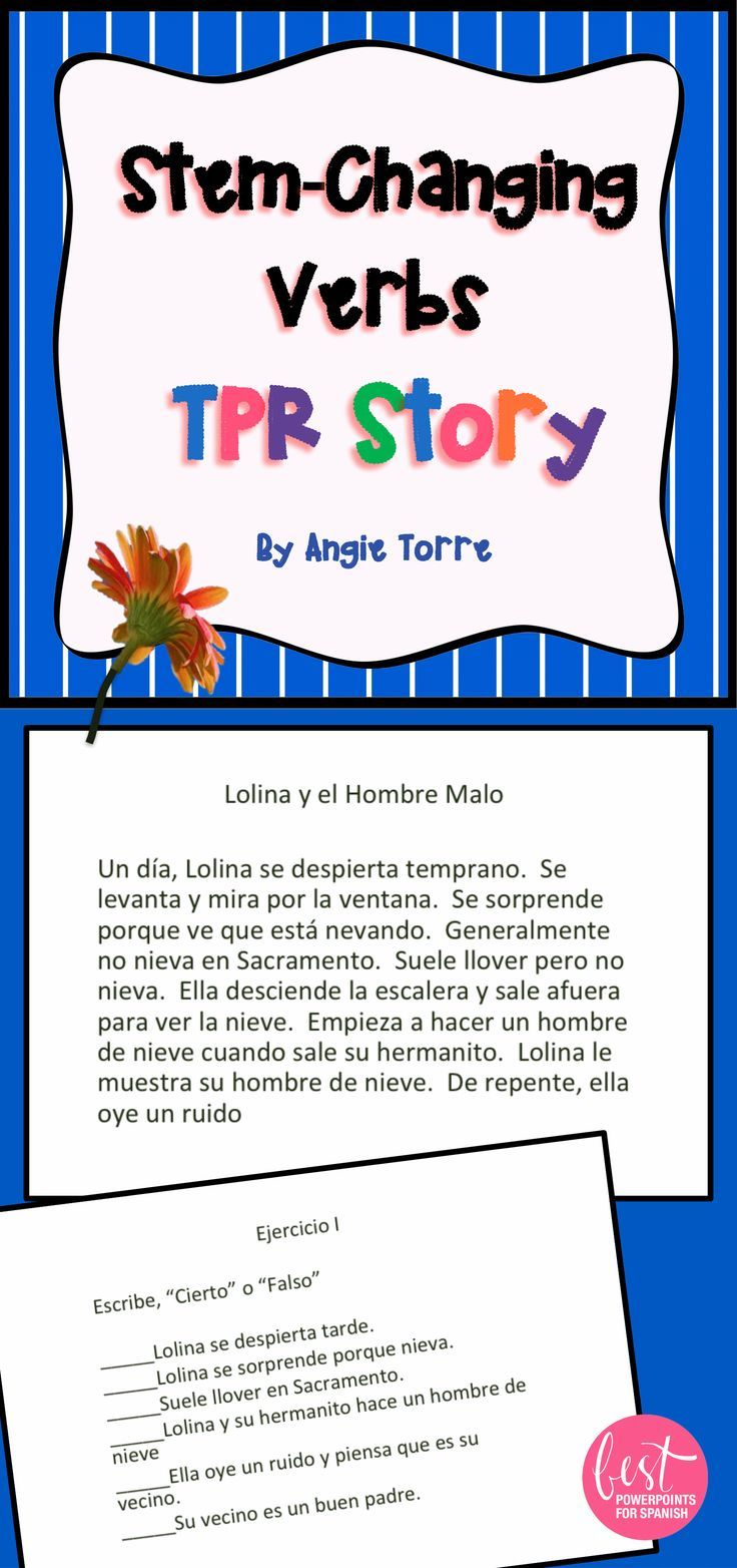 Add Some Comprehensible Input To Your Lesson On Spanish Stem Changing Verbs This Tpr Story Is About A Girl Who Begi Tpr Stories Teaching Inspiration Spanish [ 1564 x 736 Pixel ]