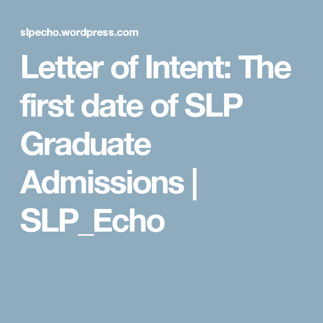 Letter Of Intent  Examples