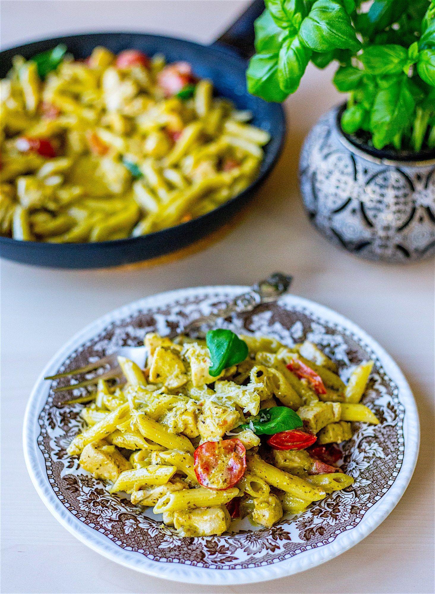 Pasta Pesto Med Kyckling Med Bilder Nyttiga Maltider Pesto