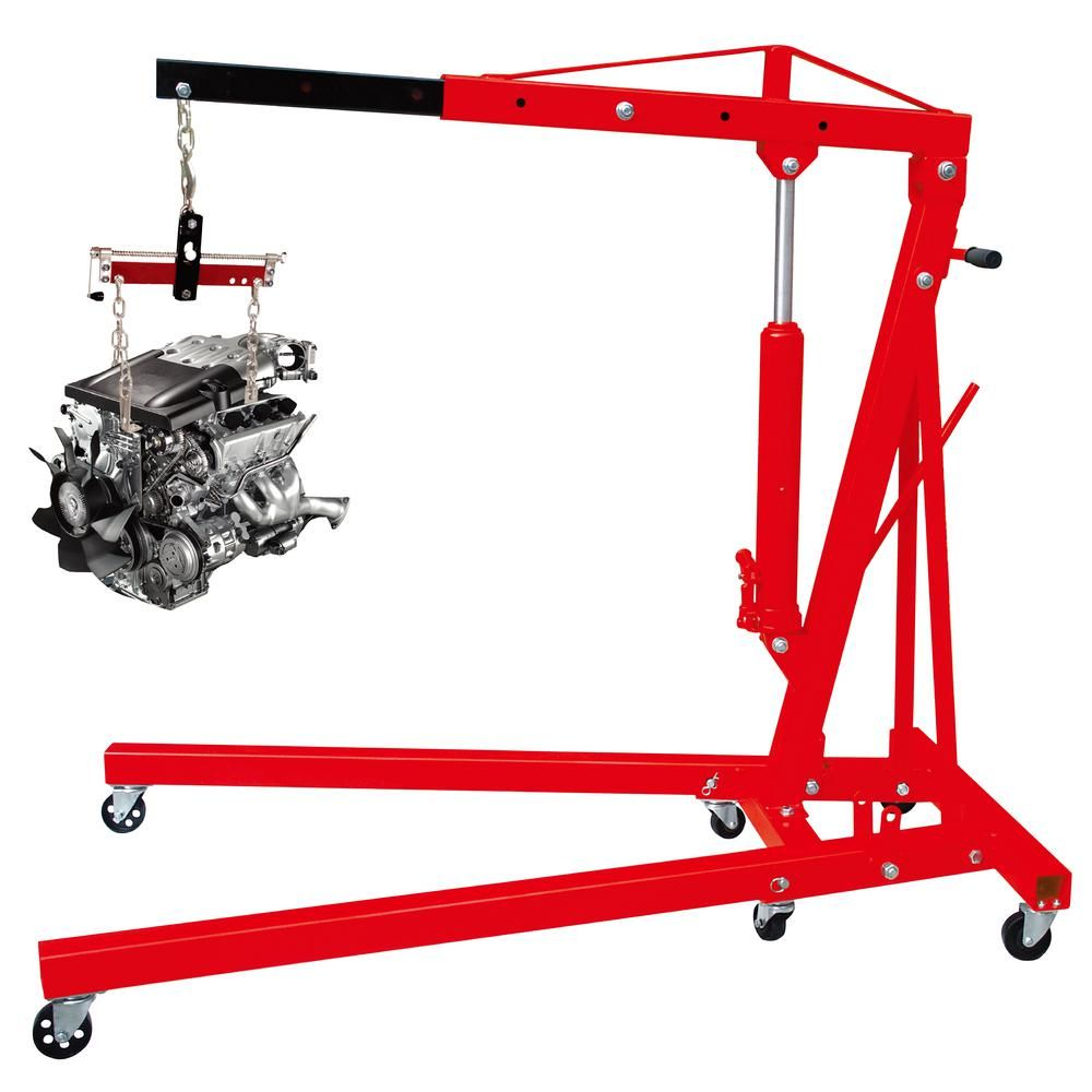 big red 2 ton foldable engine crane with load leveler t32002x trf2750 the home depot [ 1000 x 1000 Pixel ]