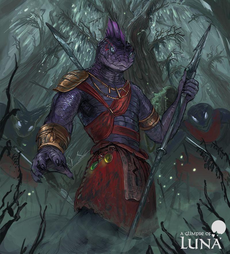 Naga Spearmen By Https Www Deviantart Com Themefinland On Deviantart Fantasy Character Design Character Art Fantasy Characters