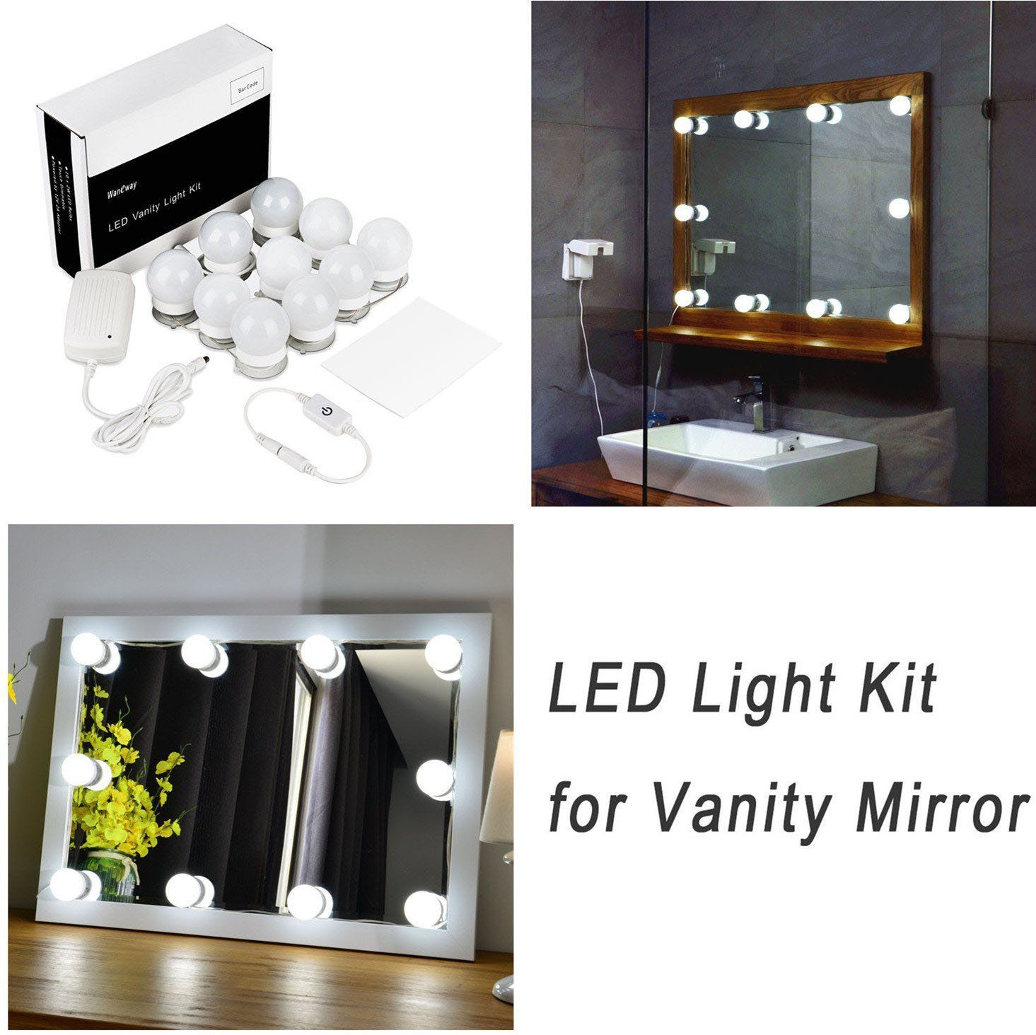 Hollywood style led vanity mirror lights kit for makeup dressing hollywood style led vanity mirror lights kit for makeup dressing table vanity set mirrors with dimmer aloadofball