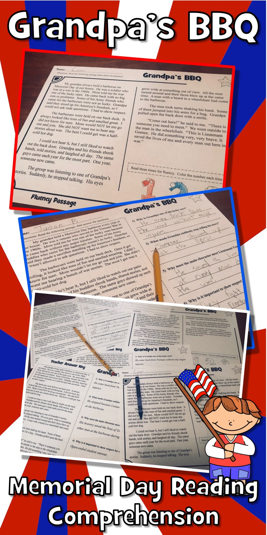 Memorial Day Reading Comprehension Passage