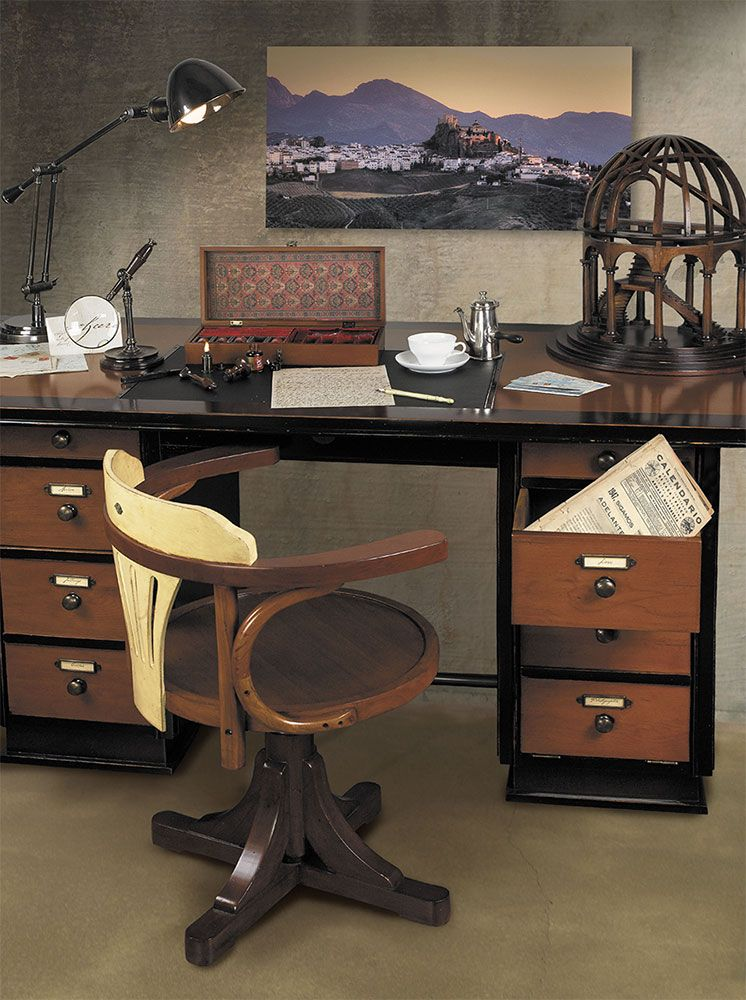 Gentil Home Office Decor Featuring Captains Desk; Desk Chair; 1930s Desk Lamp;  Dome Decorative Model; Trianon Letters Writing Se; All Furniture And  Accessories Are ...