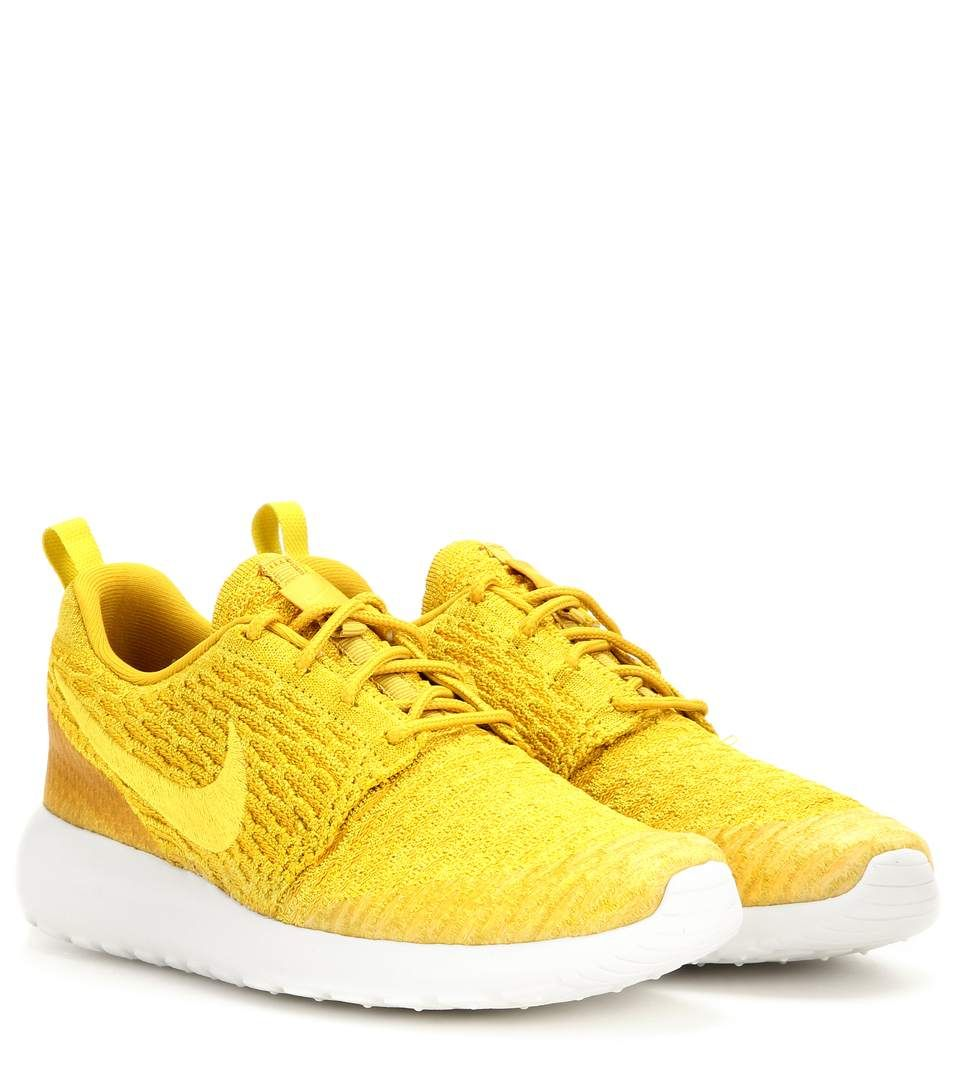 83543de6944cb4 Nike Roshe One Flyknit yellow sneakers
