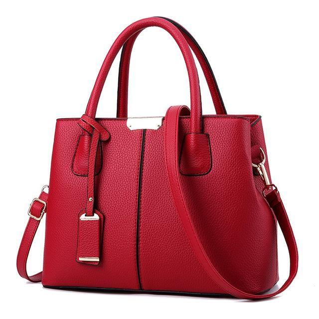 5662c1c1e4e4 Hot Sale Solid Color Fashion Casual Women Bag Famous Designer Brand Shoulder  Bags Ladies Leather Handbags Female Messenger Bags