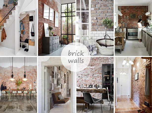 Stenen Muur Interieur : Brick walls stone wall interior inspiration bakstenen muur