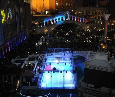 Get into the holiday spirit with a little time on the ice as the Venetian's ice skating rink.