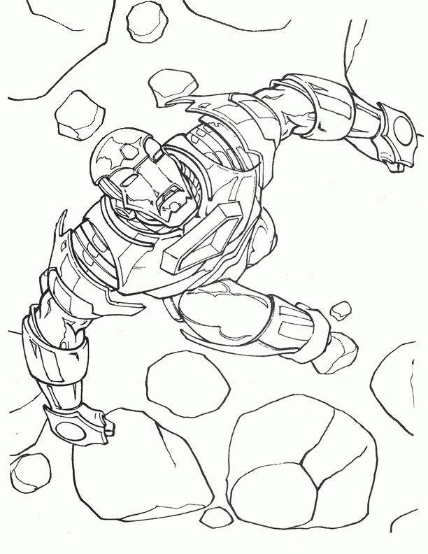 Iron Man Coloring pages for kids. Printable. Online Coloring. 3 ...