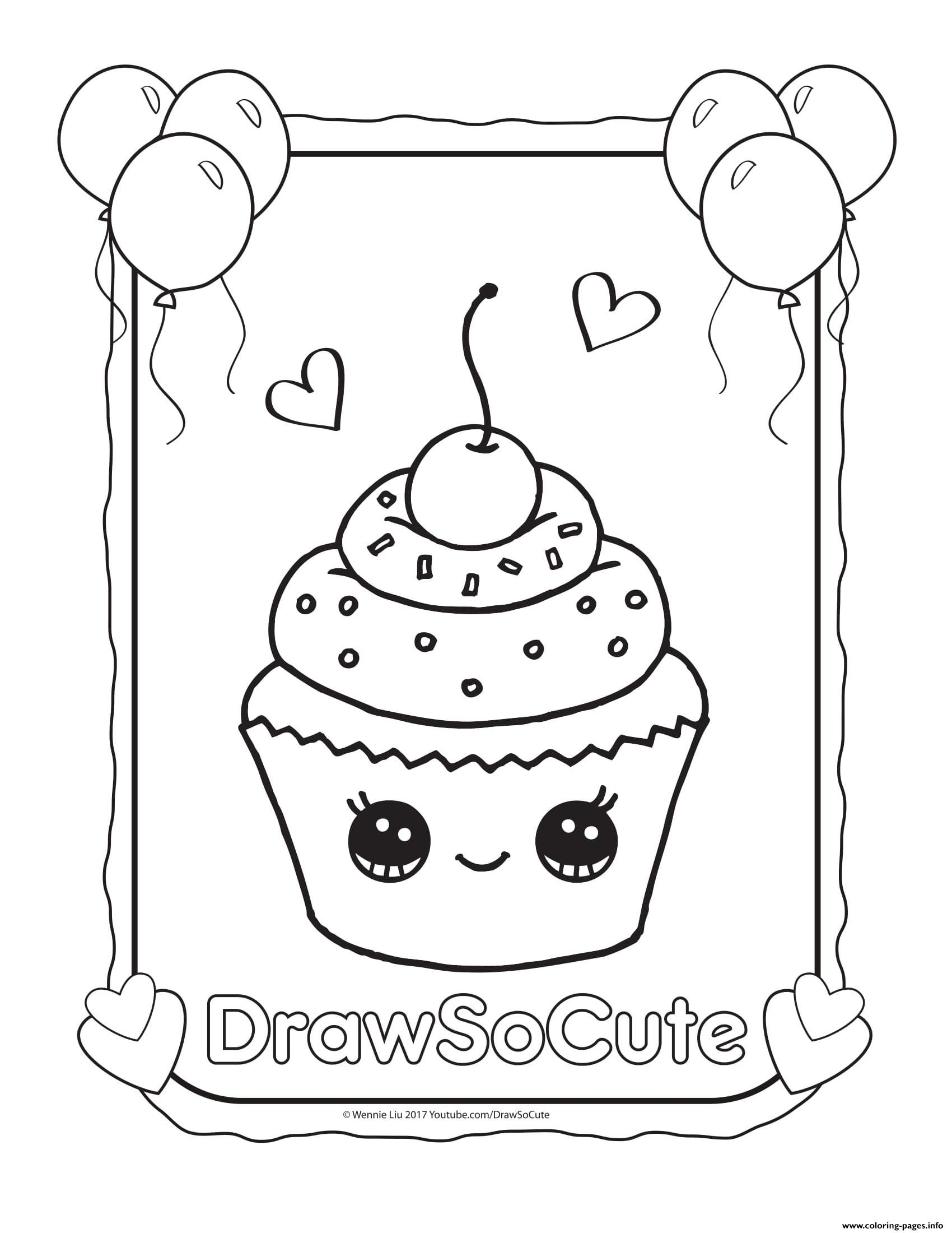 Coloring Pages To Print Out Murderthestout Cute Coloring Pages Happy Birthday Coloring Pages Cupcake Coloring Pages