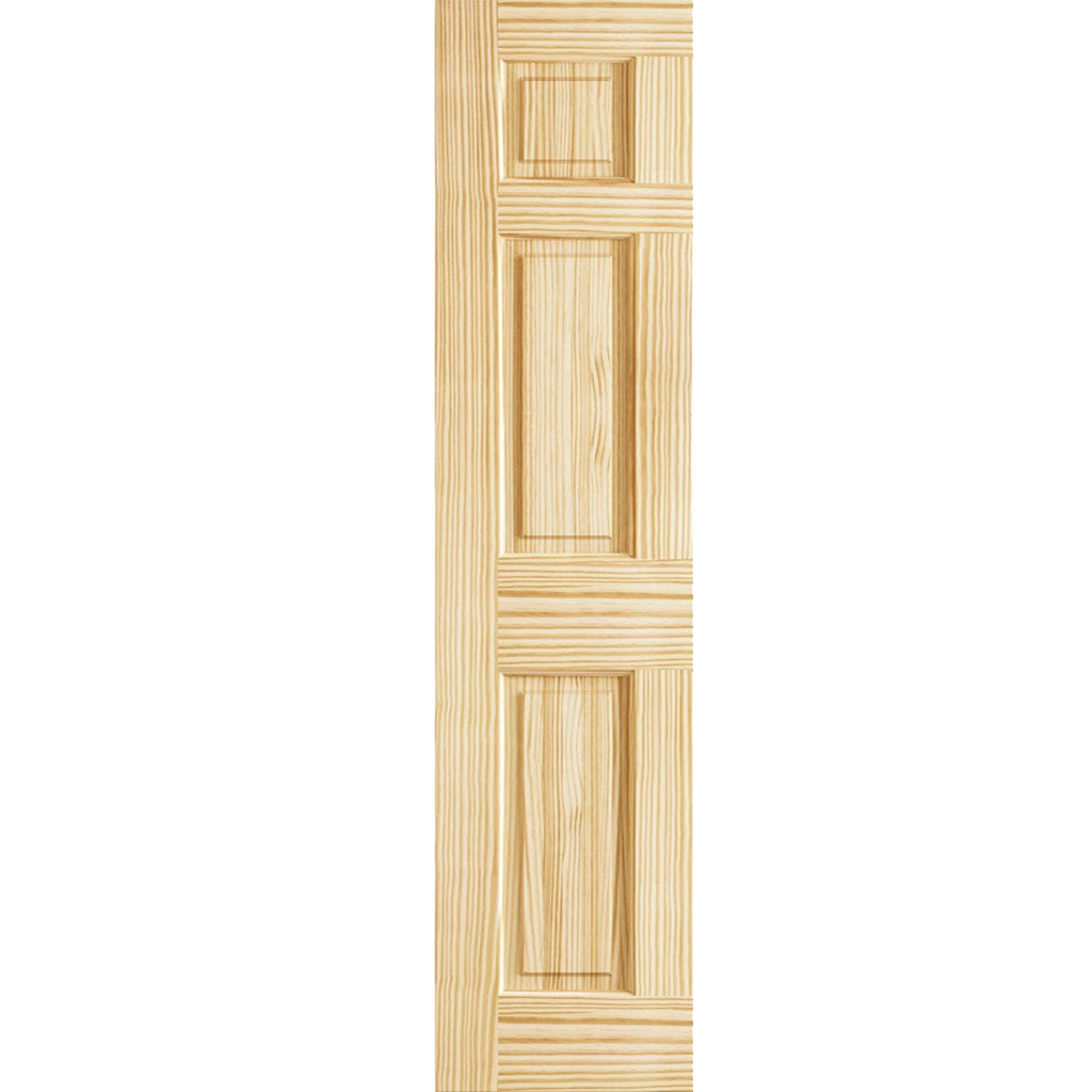 6 Panel Colonial Solid Pine Unfinished Interior Door Slab Pine Interior Doors Interior Design Colleges Interior Design Courses Online