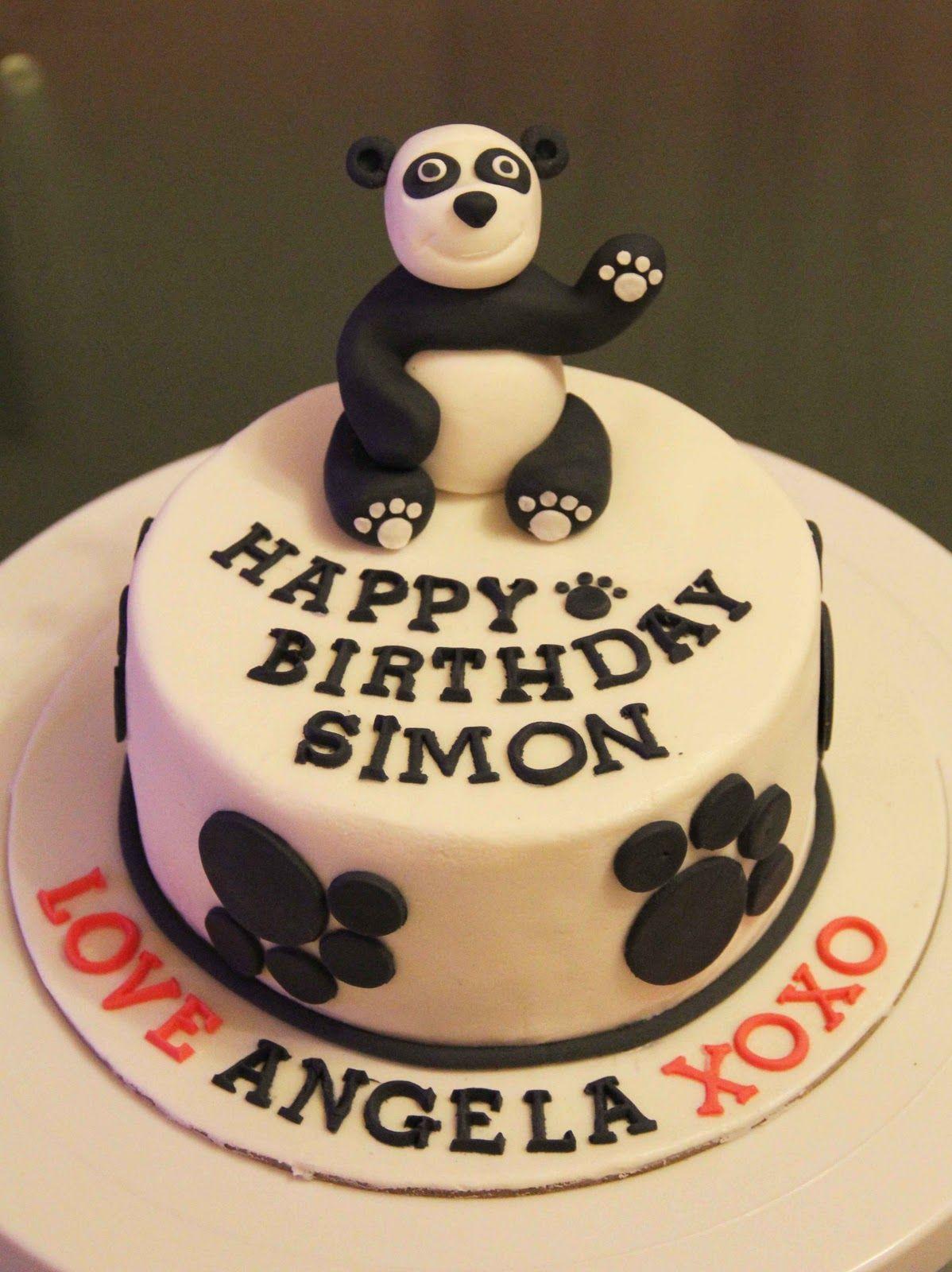 Cute Panda Birthday Cake Cute Panda Cakes Cute panda