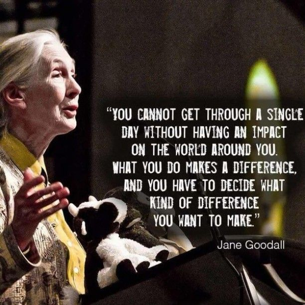 Make an impact Jane Goodall Words, Inspirational words