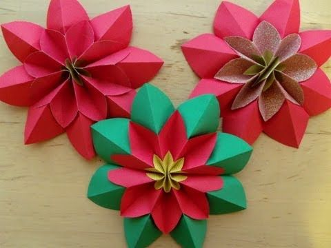 How To Fold A Poinsettia Flower Origami My Crafts And Diy Projects Christmas Origami Poinsettia Flower Paper Flowers
