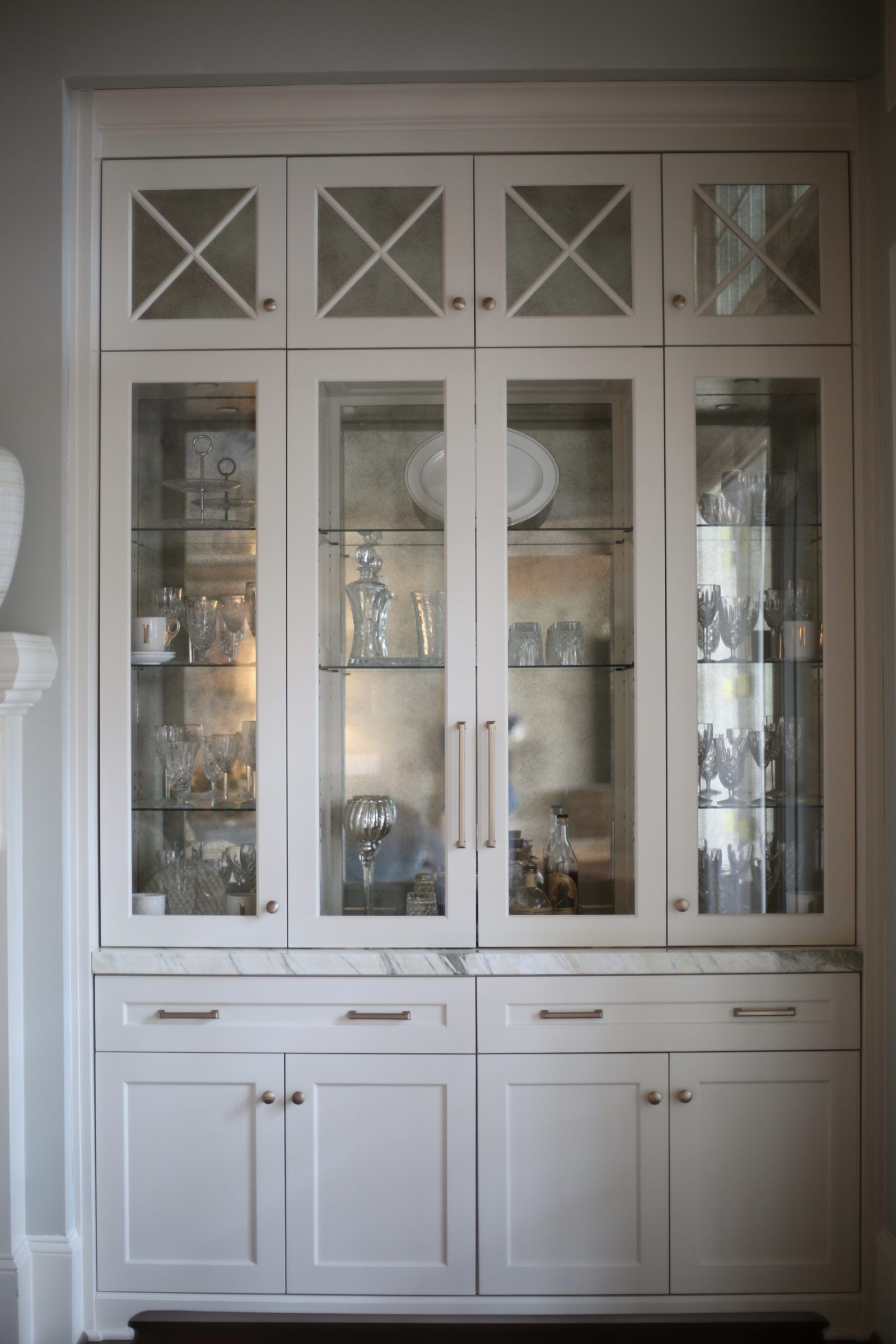 Beyond Beautiful Dining Room Storage In White Gold Custom