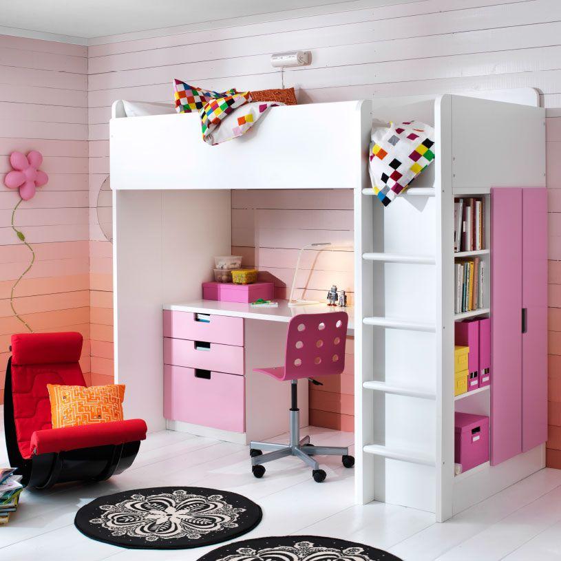 Ein Kinderzimmer Mit Stuva Hochbettkombination Mit 3 Schubladen Und