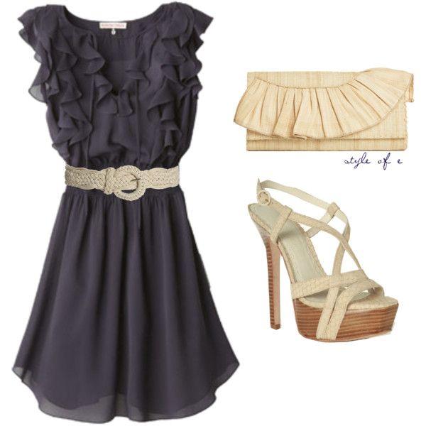 Navy summer dress