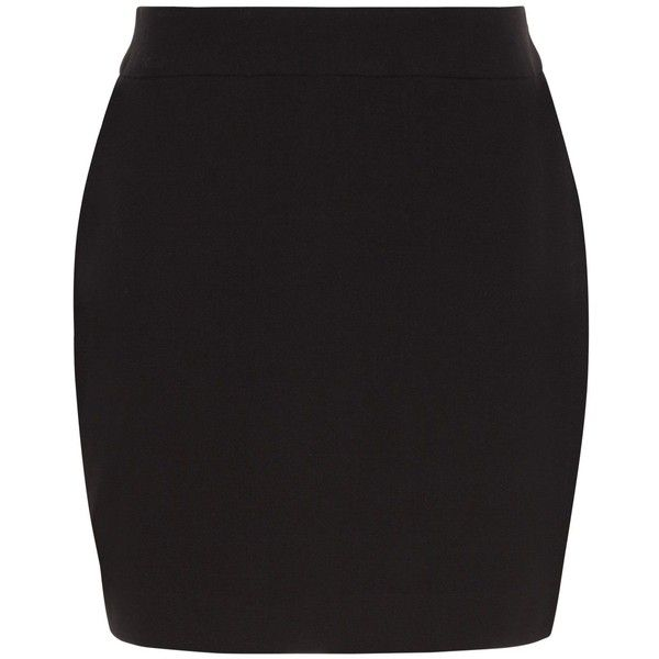e4401e1918bed New Look Girls Black Woven Tube Skirt ($10) ❤ liked on Polyvore featuring  skirts, black, tube skirt, mini tube skirt, slim skirt, zipper mini skirt  and ...