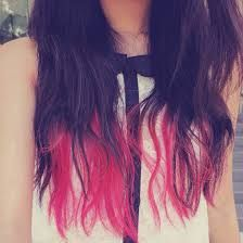 Bilderesultat for black and red ombre hair