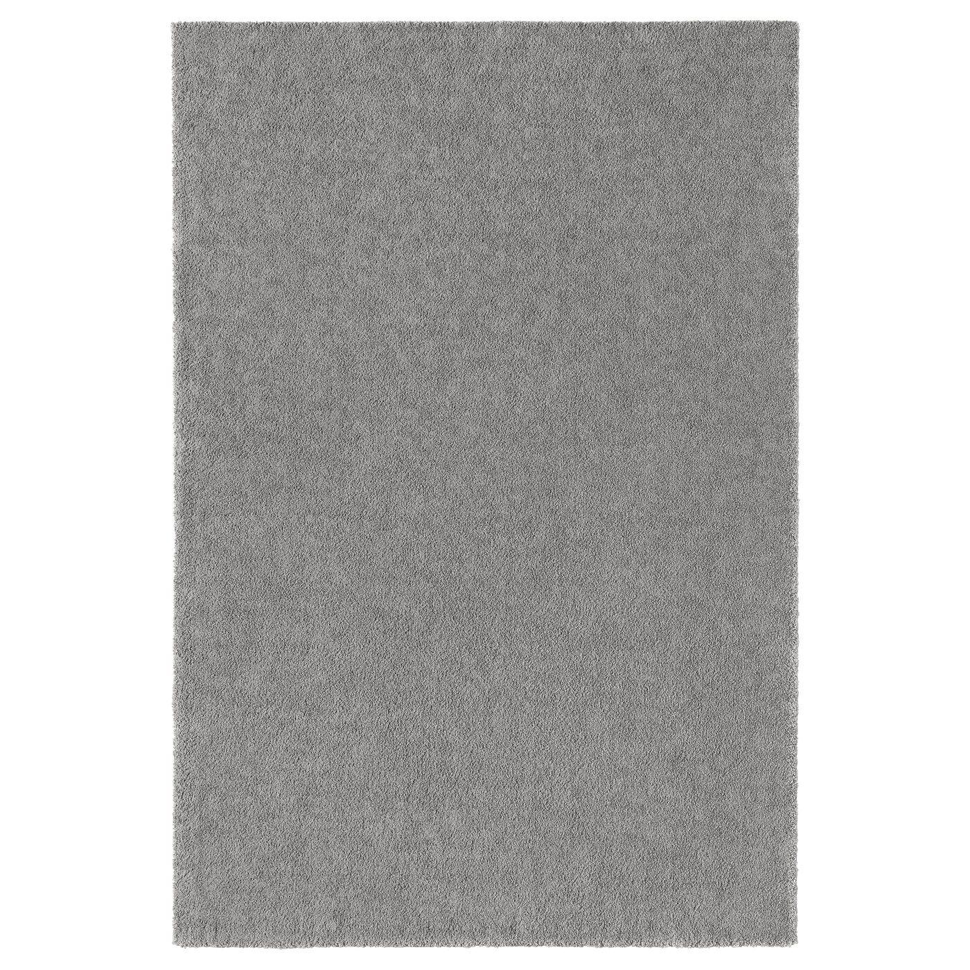 Stoense Vloerkleed Laagpolig Middengrijs 200x300 Cm Ikea Ikea Teppich Teppich Reinigen Teppich