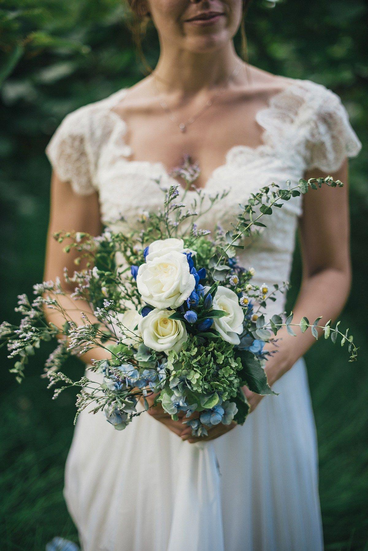 Dye wedding dress after wedding  A Beautiful Blue Ombre Wedding Dress for a Barefoot Beach Wedding
